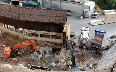 Finkbeiner KG – Baugrube für Löschwasserbehälter